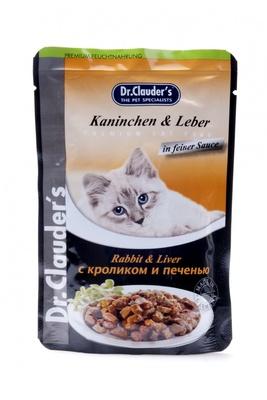 Dr. Clauders влажный корм для взрослых кошек всех пород, с кроликом и печенью 100 гр
