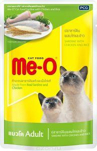 Ме-О влажный корм для взрослых кошек всех пород, тунец и курица 80 гр