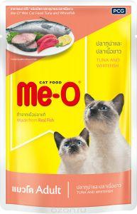 Ме-О влажный корм для взрослых кошек всех пород, тунец и белая рыба 80 гр