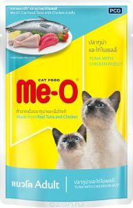 Ме-О 82804 Adult пауч д/кошек №5 Сардина с курицей и рисом в желе 80г, 81877