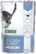 Nature's Protection влажный корм для котят всех пород, курица и кролик 100 гр