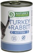 Натур Протекшн 46349 Kitten Turkey & Rabbit кон.д/котят Индейка/Кролик 400г, 81827