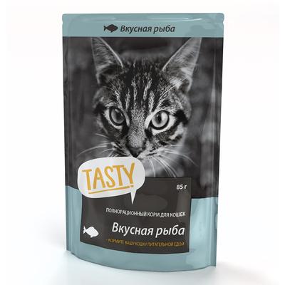 Tasty Пауч для кошек с рыбой в желе ( 02TS794), 0,085 кг