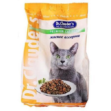 Dr. Clauders корм для взрослых кошек всех пород, мясное ассорти 15 кг