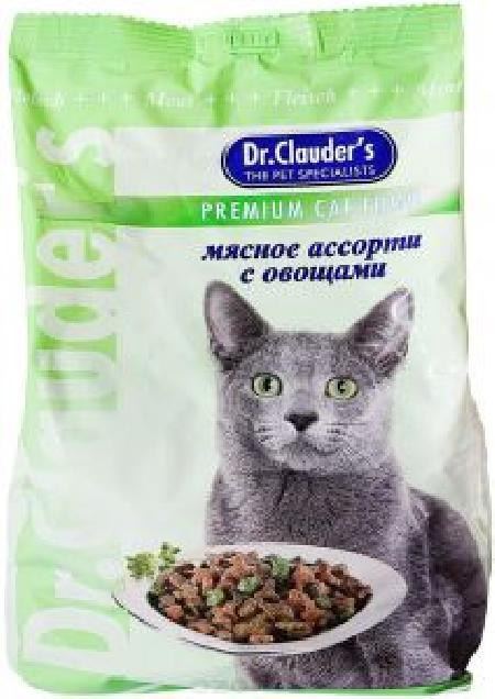 Dr. Clauders корм для взрослых кошек всех пород, мясное ассорти с овощами 15 кг