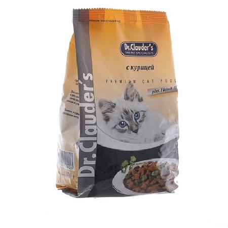 Dr. Clauders корм для взрослых кошек всех пород, курица 15 кг