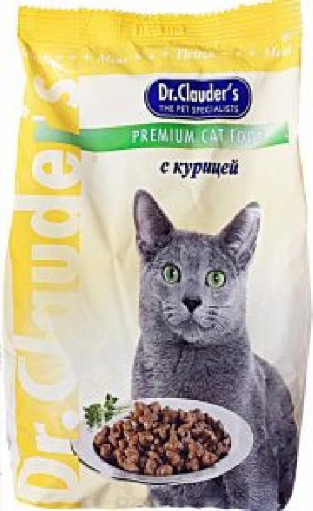Dr. Clauders корм для взрослых кошек всех пород, курица 400 гр