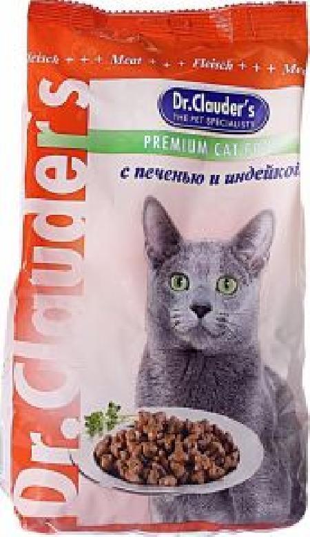 Dr. Clauders корм для взрослых кошек всех пород, индейка 400 гр
