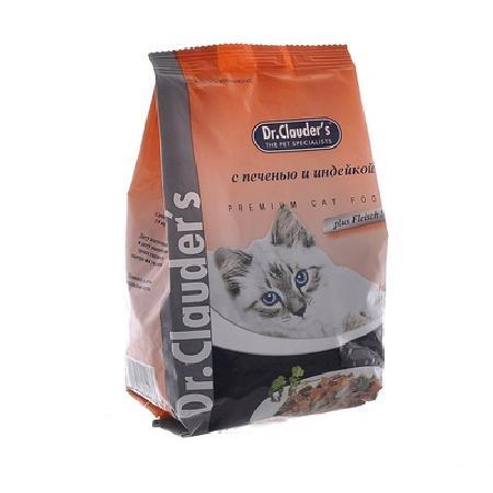 Dr. Clauders корм для взрослых кошек всех пород, индейка 15 кг
