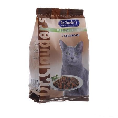 Dr. Clauders корм для взрослых кошек всех пород, кролик 400 гр