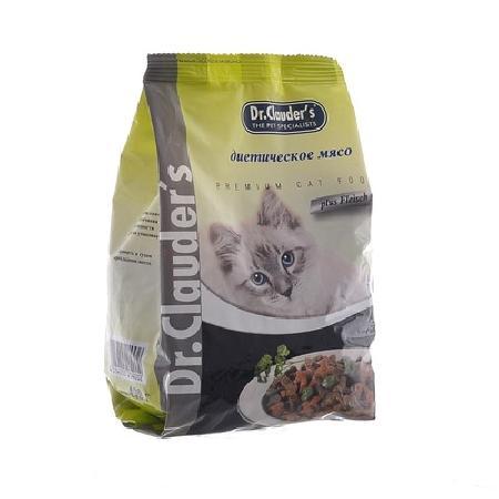 Dr. Clauders корм для взрослых кошек всех пород, диетическое мясо 15 кг