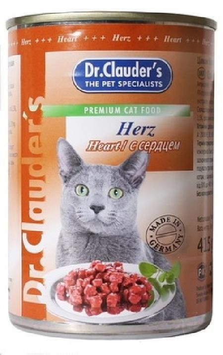 Dr.Clauders Консервы для кошек с сердцем, 0,415 кг