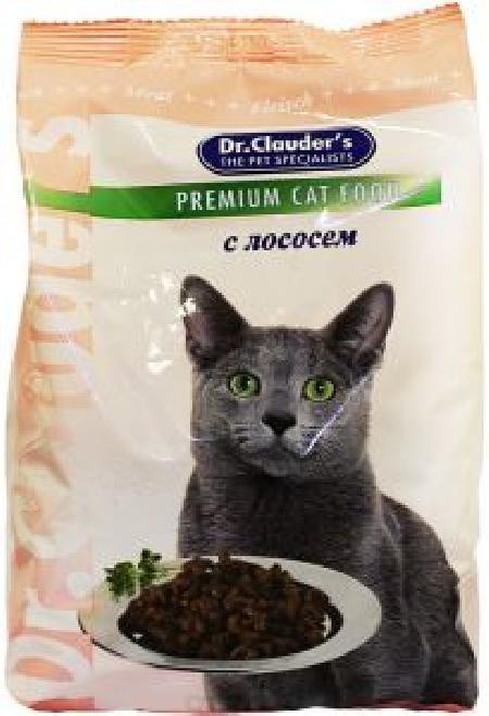 Dr. Clauders корм для взрослых кошек всех пород, лосось 400 гр
