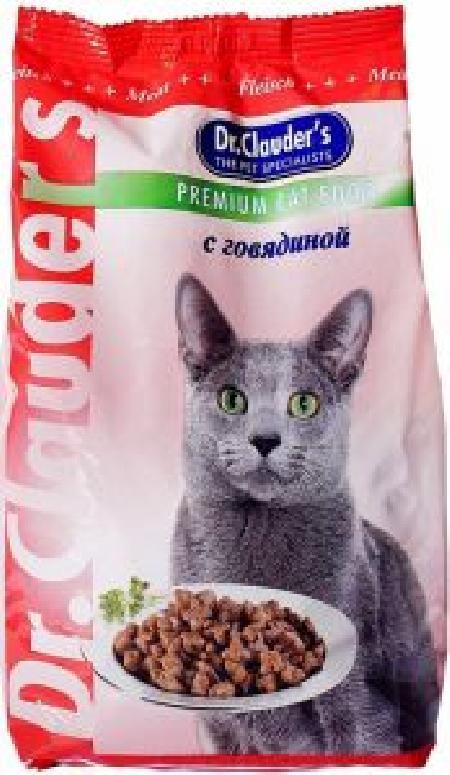 Dr. Clauders корм для взрослых кошек всех пород, говядина 400 гр