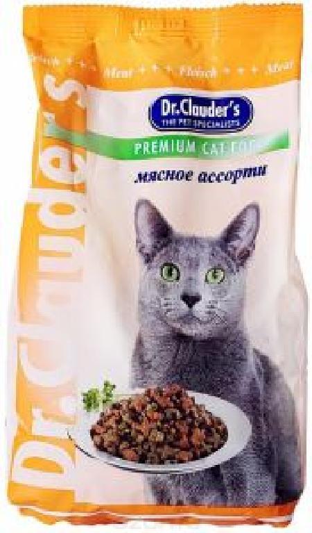Dr. Clauders корм для взрослых кошек всех пород, мясное ассорти 400 гр