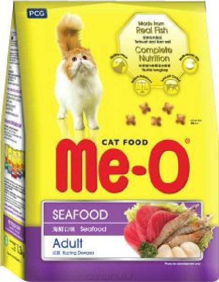 Ме-О корм для взрослых кошек всех пород, морепродукты 7 кг