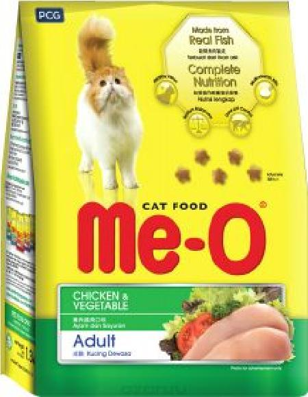 Ме-О корм для взрослых кошек всех пород, курица с овощами 7 кг