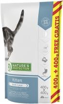 Nature's Protection корм для котят всех пород, курица, индейка и утка 800 гр