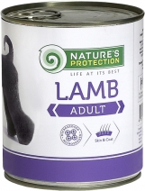 Натур Протекшн 46325 Adult Lamb кон.для собак Ягненок 800г