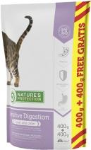 Nature's Protection корм для взрослых кошек всех пород, чувствительное пищеварение, индейка 800 гр