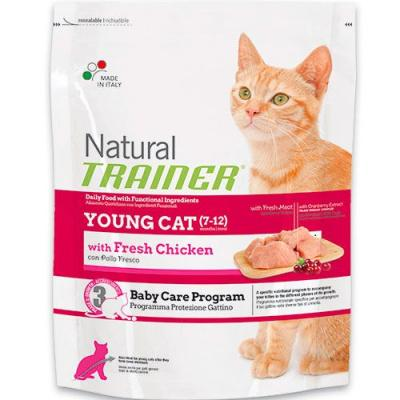 Trainer Natural корм для молодых кошек от 7 до 12 месяцев, курица 1,5 кг