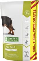 Nature's Protection корм для взрослых собак малых пород, курица, индейка и утка 1 кг (0,5+0,5)