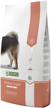 Nature's Protection корм для взрослых собак средних пород, курица, индейка и утка 12 кг