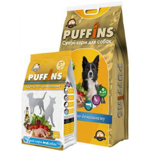 Puffins сухой корм длЯ собак обак 500гр Курица по-домашнему 116