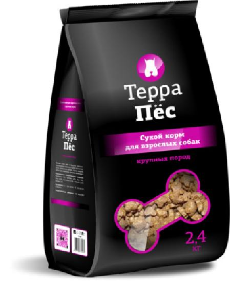 ТерраПес корм для собак крупных пород 2,4 кг