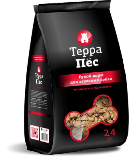 ТерраПес корм для активных и служебных собак 2,4 кг