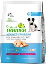 Trainer Natural корм для щенков и юниоров средних пород от 1 до 12 месяцев, курица 3 кг
