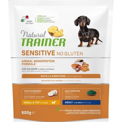 Trainer Сухой корм для взрослых собак малых пород без глютена с лососем 010/252168, 0,800 кг