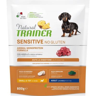 Trainer Сухой корм для взрослых собак малых пород без глютена с ягненком 010/252175, 0,800 кг