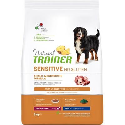 Trainer Сухой корм для взрослых собак средних и крупных пород без глютена с уткой 010/252445, 3,000 кг