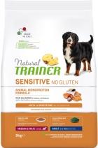 Trainer Natural корм для собак средних и крупных пород с чувствительным пищеварением, лосось 3 кг