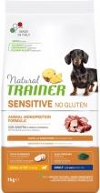 Trainer Natural корм для взрослых собак мелких пород, с чувствительным пищеварением, утка 7 кг