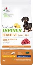 Trainer Natural корм для взрослых собак мелких пород, с чувствительным пищеварением, ягненок 7 кг