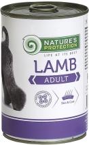 Nature's Protection влажный корм для взрослых собак всех пород, чувствительное пищеварение, ягненок 400 гр