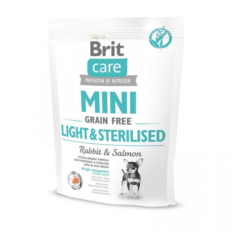 Brit Care корм для взрослых собак малых пород, контроль веса, кролик 400 гр