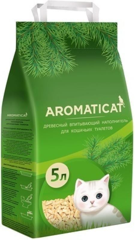 AromatiCat Древесный впитывающий наполнитель, 25л, 15,000 кг