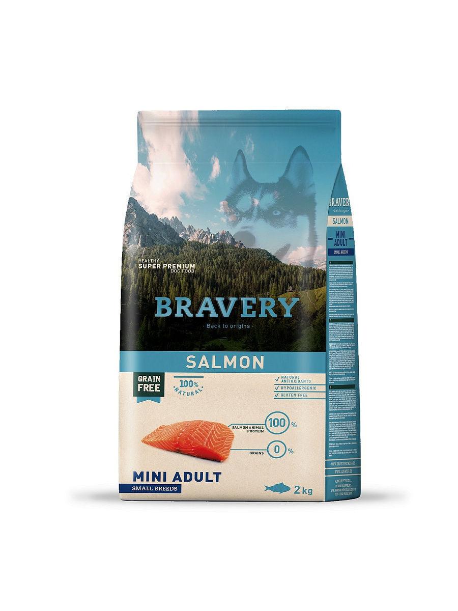 Bravery salmon small breeds корм для собак Мелких пород Лосось 2кг