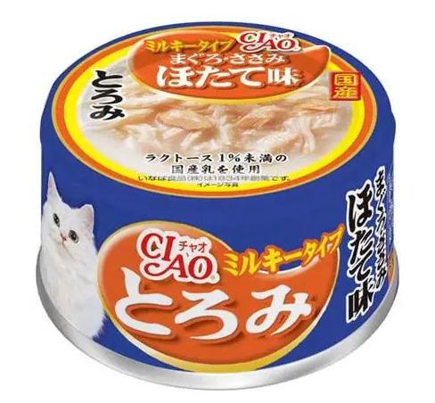 CIAO влажный корм для кошек, мраморная вырезка тунца с гребешком 80 гр