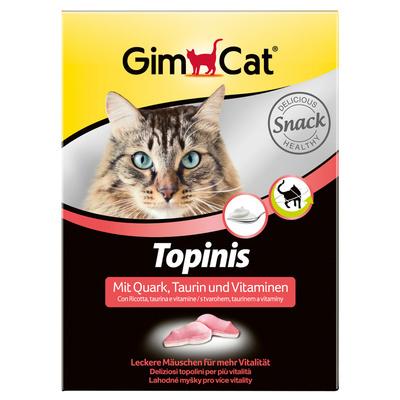 Gimpet витаминизированное лакомство для кошек, мышки с творогом и таурином 220 гр