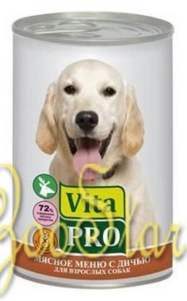 VitaPRO влажный корм для взрослых собак всех пород, дичь 400 гр