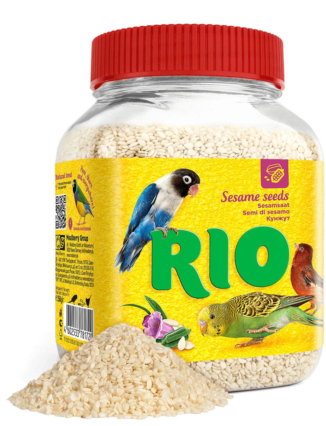 Rio Кунжут лакомство для всех видов птиц 250 гр