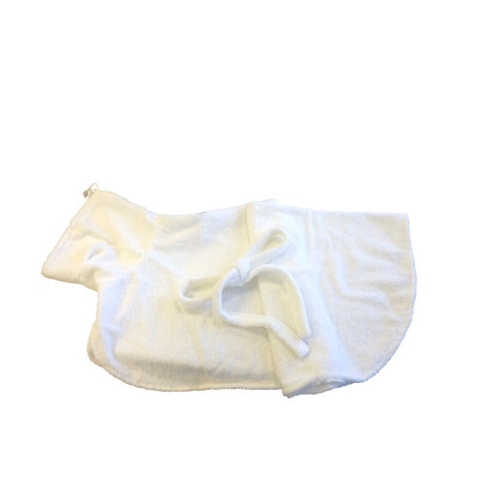 [94.163.330]  Халатик для домашних животных L 80х45 см белый