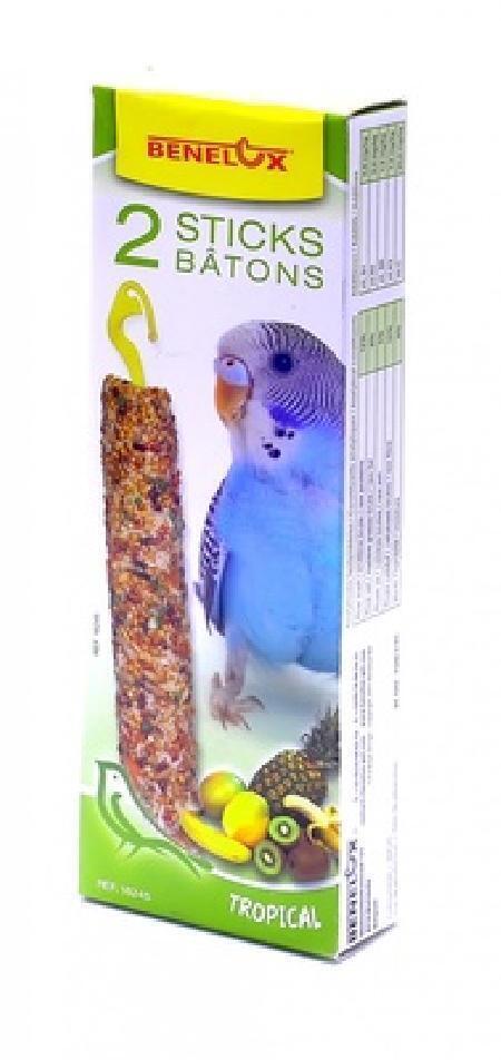 Benelux корма ВИА Палочки для волнистых попугайчиков с тропическими фруктами (Seedsticks budgies Tropical fruit x 2 pcs) 16245, 0,110 кг, 50856, 1000100847