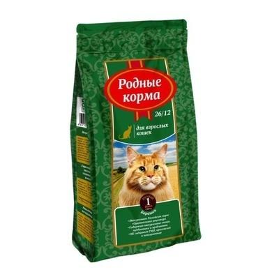 Родные Корма корм для взрослых кошек всех пород, барашек 400 гр