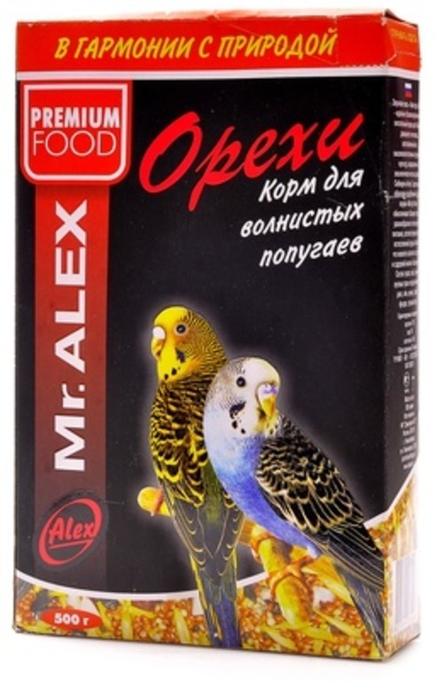 Mr.Alex ВИА Корм для попугаев Орех, 0,500 кг, 45186