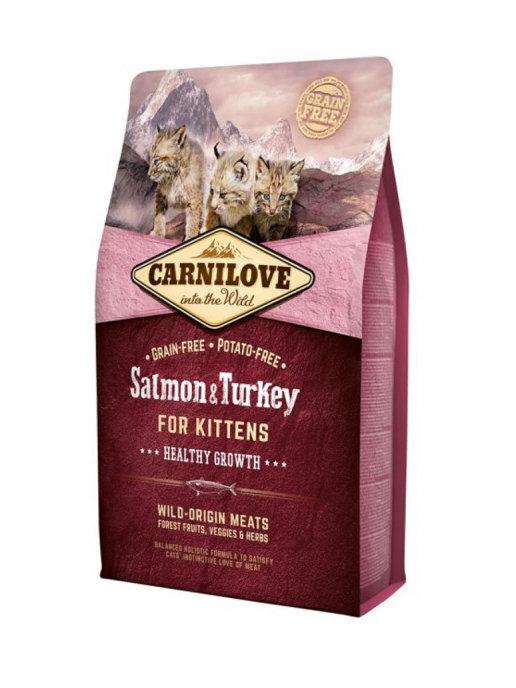 Carnilove 2кг  Salmon & Turkey for Kittens дкотят лосось и индейка